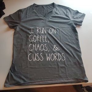 I run on coffee chaos and cuss words
